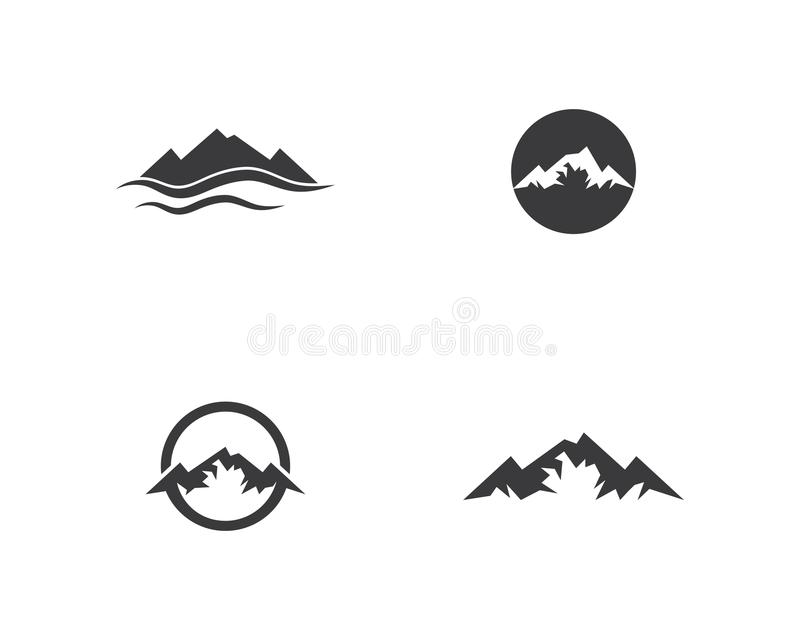 Mountains Logo vector illustration