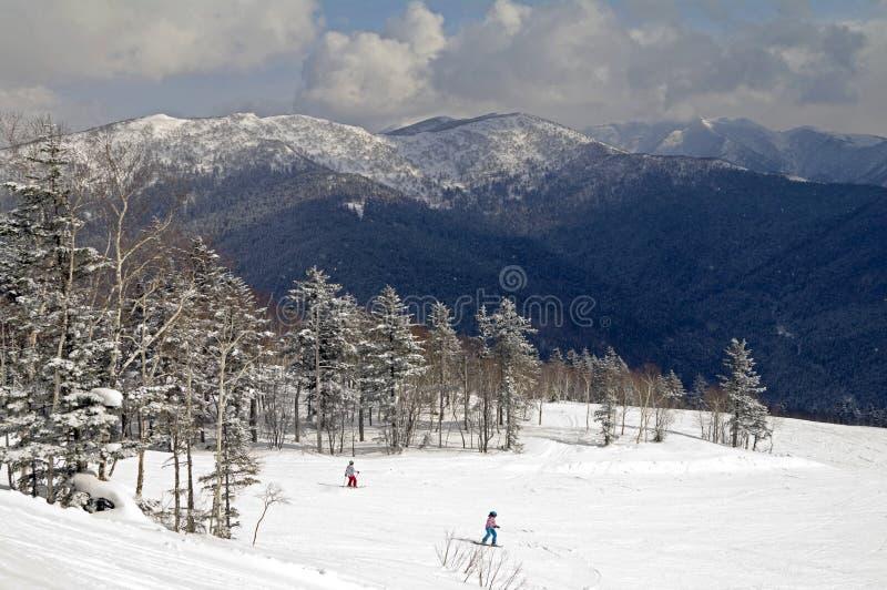 Mountains of island Sakhalin royalty free stock images