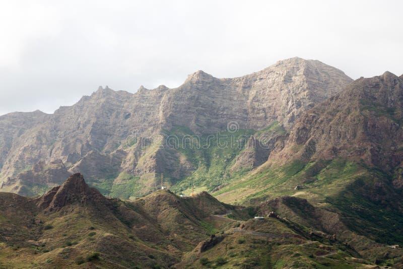 Mountains of the island of Sao Nicolau, Cape Verde. The mountains of the island of Sao Nicolau, Ribeira Brava, Cape Verde stock photo