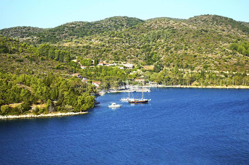Mountains in Ithaca island. Greece royalty free stock photography