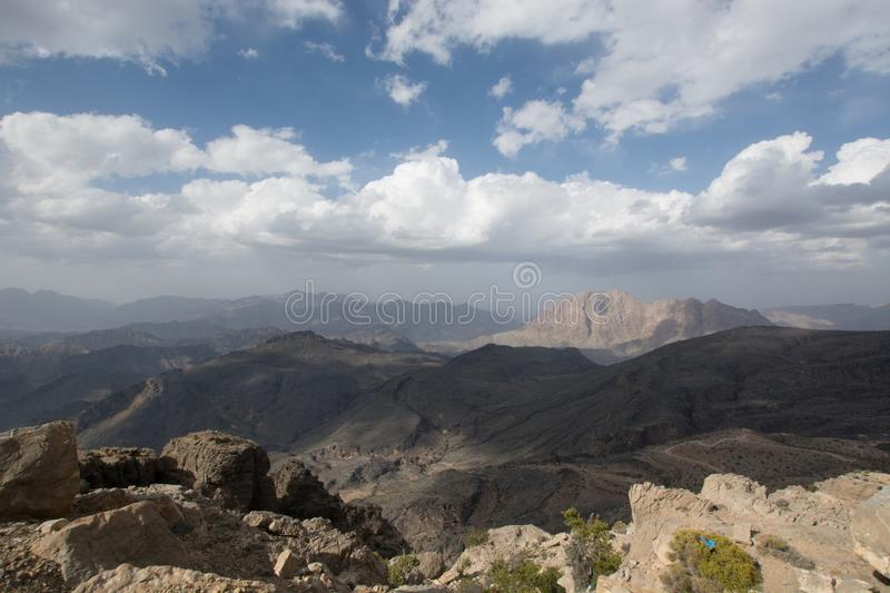 Mountains of Jebel Shams in Oman stock photography