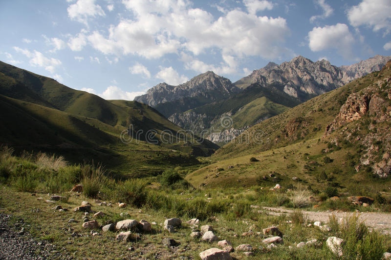 Download Mountains of Kyrgyzstan. stock photo. Image of beautiful - 23768796