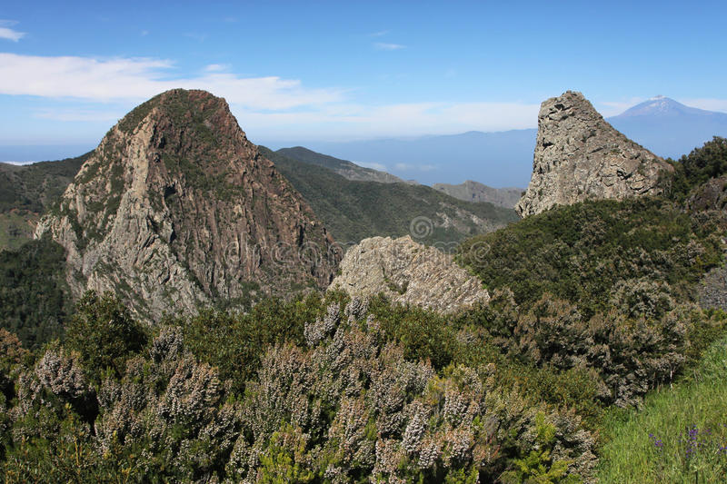 Mountains in La Gomera royalty free stock images