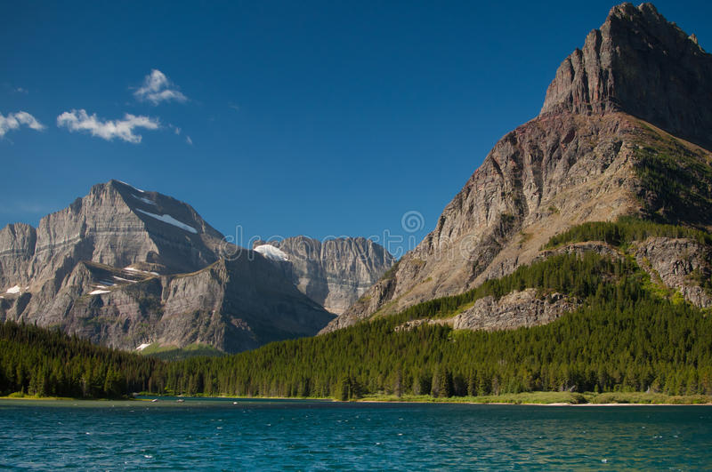 Mountains by the lake royalty free stock photo