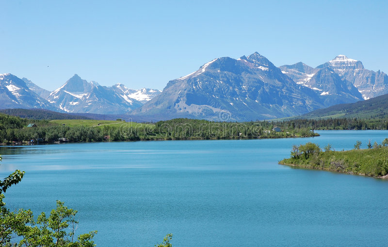 Download Mountains and lake stock image. Image of clouds, blue - 5723347