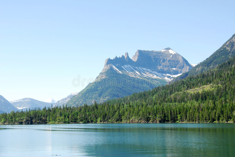 Mountains and lake royalty free stock image