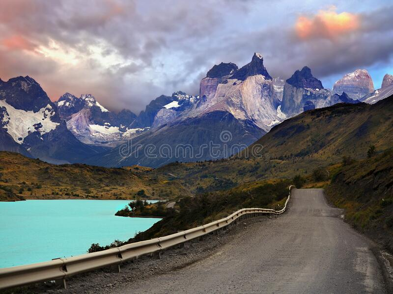 Mountains Lake Travel Patagonia Landscape stock photography