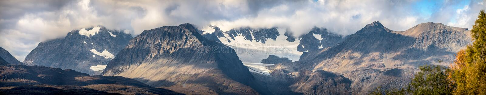 Mountains landscape - north Norway stock photography
