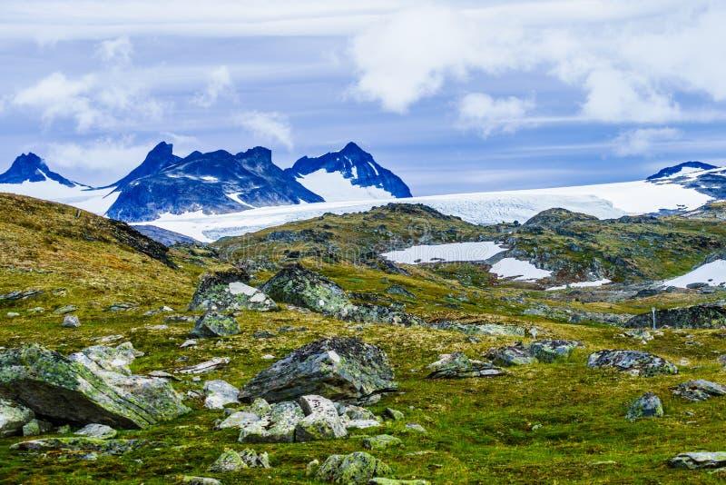 Mountains landscape. Norwegian route Sognefjellet stock photos