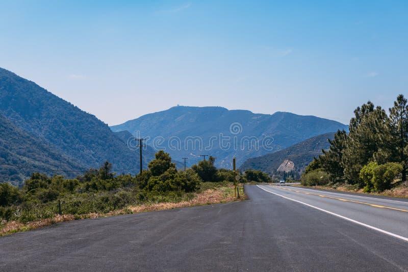 The mountains landscape of San Bernardino National Forest, USA. The mountains landscape of San Bernardino National Forest royalty free stock photos