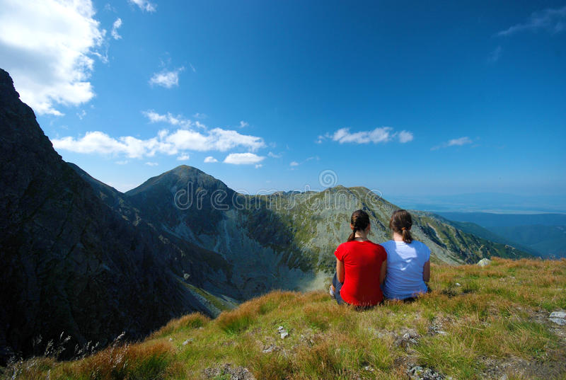 Mountains landscape in Slovakia stock photography