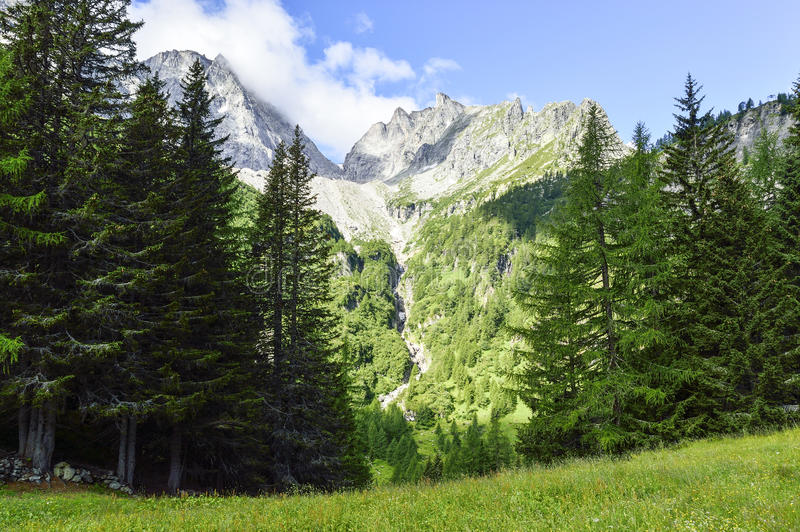 Mountains landscape in summer season royalty free stock photo