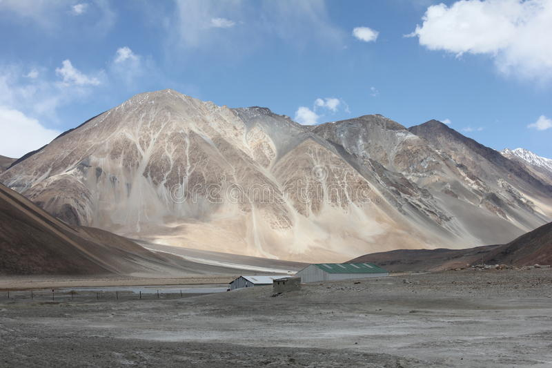 Mountains of lay india. Mountains of lay ladak india windy stock photos