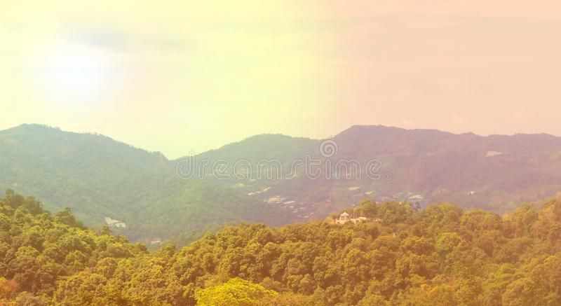 Mountains and light in the morning Beautiful natural landscape in the summer time - Image stock images