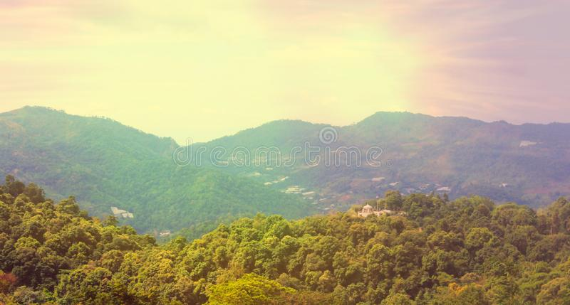 Mountains and light in the morning Beautiful natural landscape in the summer time - Image royalty free stock photos