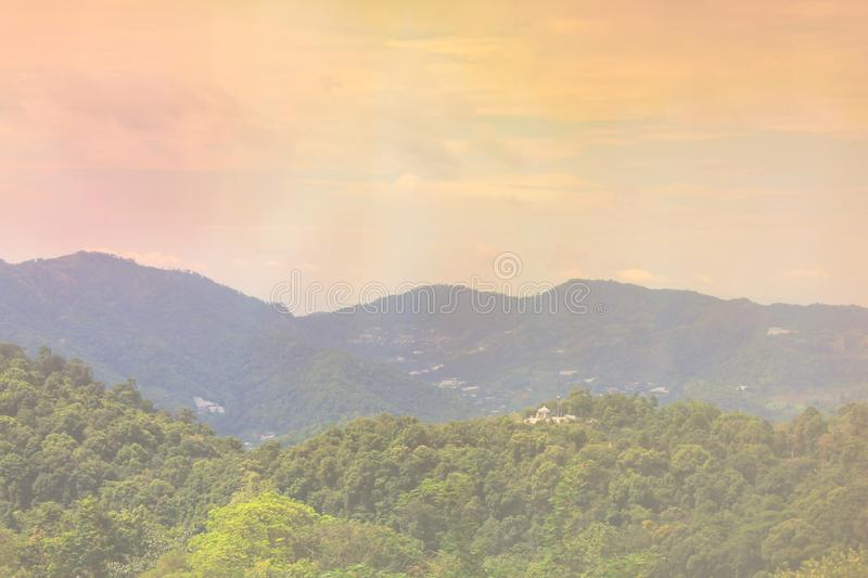 Mountains and light in the morning Beautiful natural landscape in the summer time - Image stock image