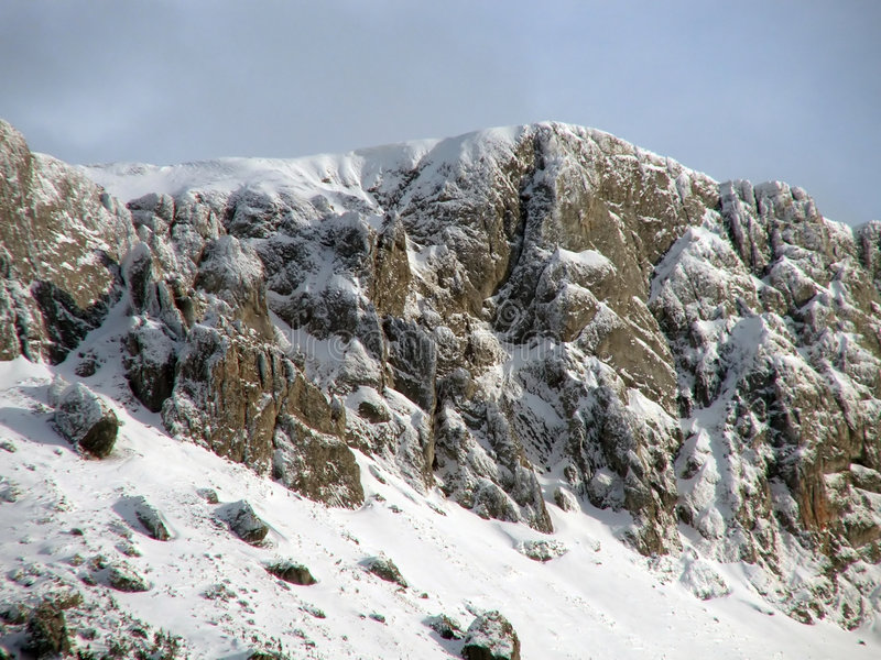 Download Mountains with little snow stock image. Image of dangerous - 428945