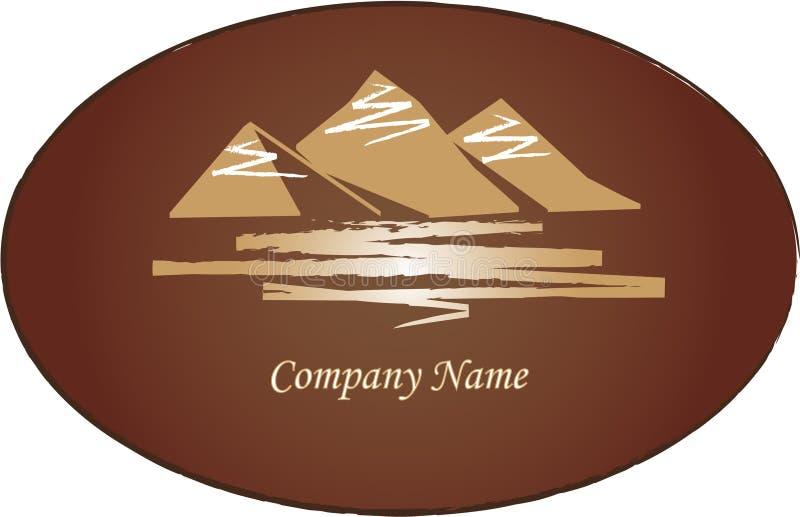 Mountains logo royalty free illustration