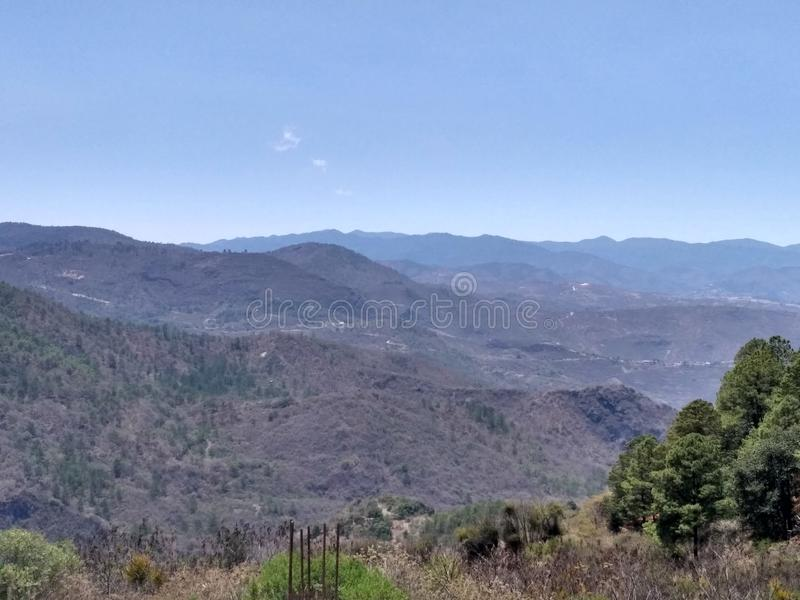 Mountains. Long view from a mountains chain in oaxaca mexico royalty free stock image