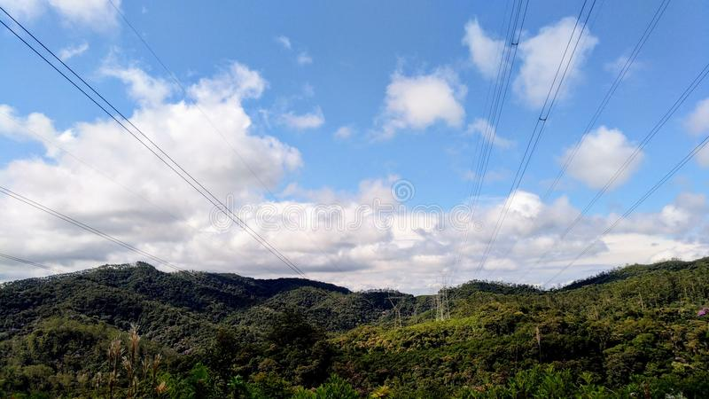 Mountains that make up Brazilian beauty royalty free stock images