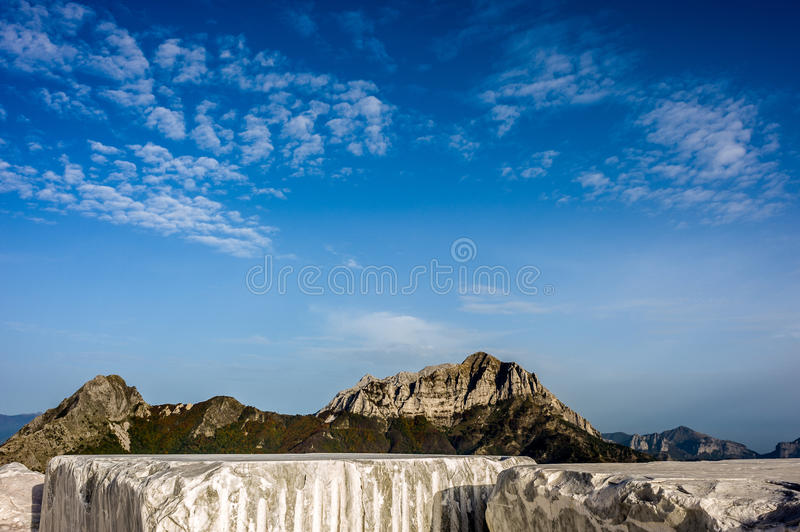 Mountains and Marble Quarry stock photos