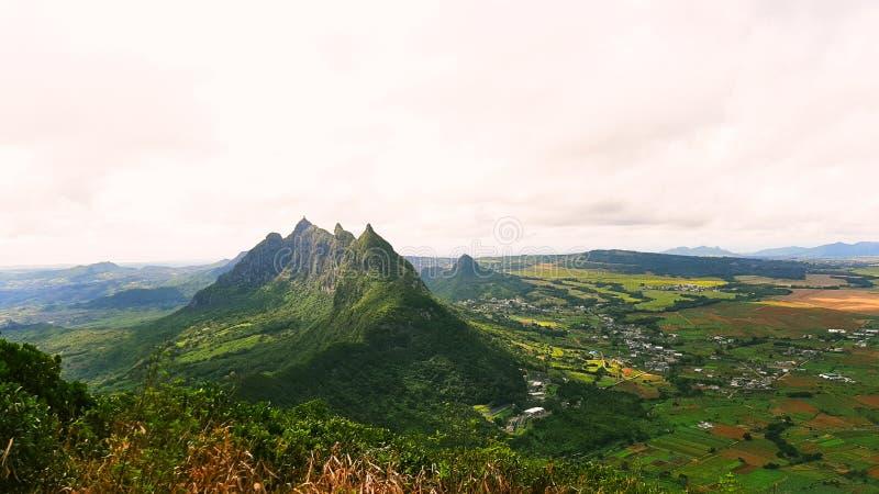 Mountains of Mauritius stock photos