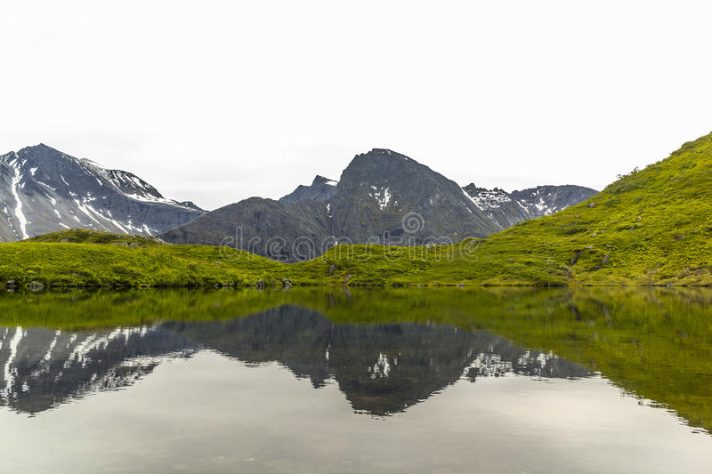 Mountains Mirrored by Lake royalty free stock photography