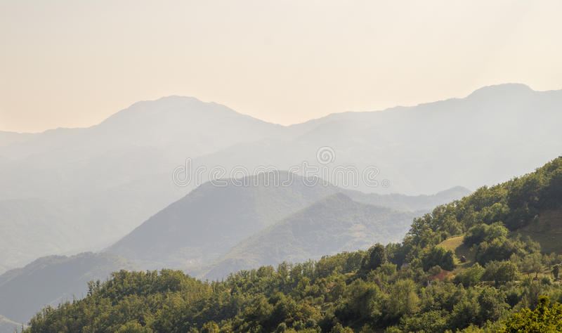 In the mountains of Montenegro stock images