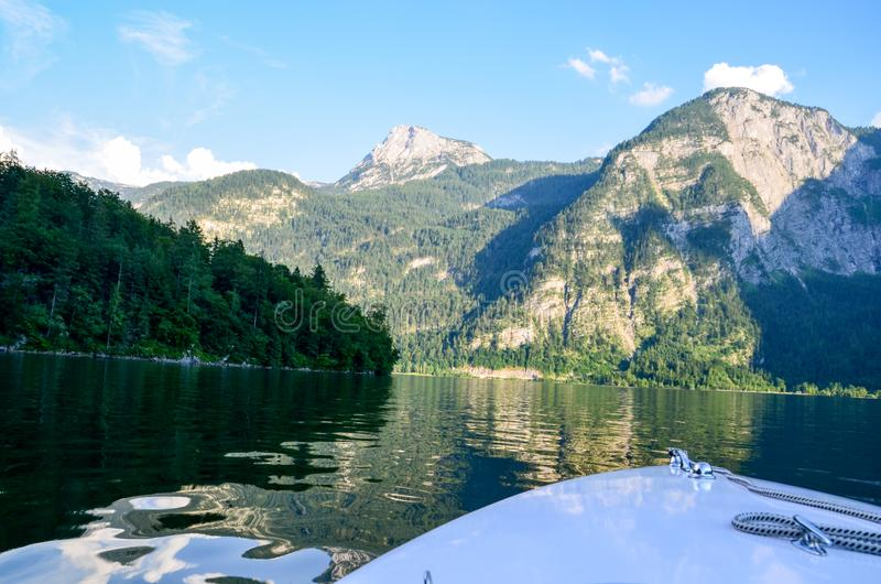 Mountains Near Body Of Water stock photography