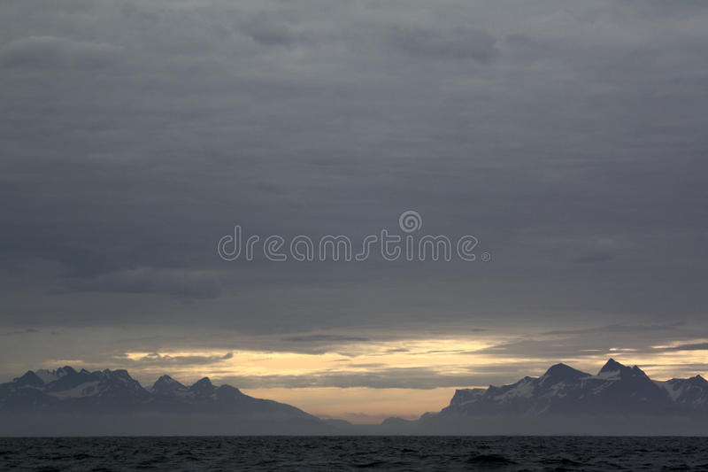 Mountains near Nuuk royalty free stock images