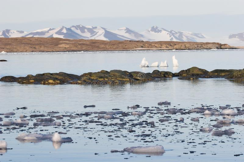 Download Mountains Over The Arctic Fjord Stock Photo - Image: 28315656
