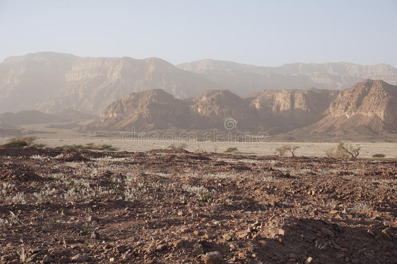 Mountains park Timna, israel stock photography