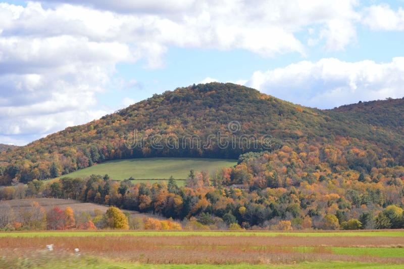 Mountains in Pennsylvania in autumn on a rainy afternoon royalty free stock photo
