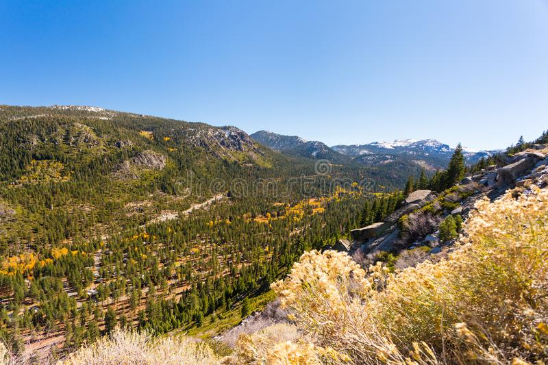 Hope Valley, California, United States. Mountains and pine forest of Hope Valley, California, United States stock photos