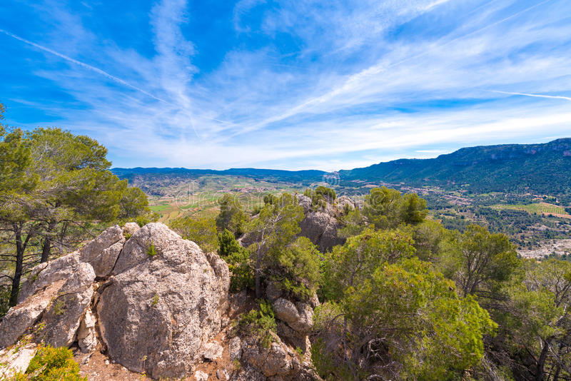Mountains in the province of Catalunya, Spain. Copy space. Mountains in the province of Catalunya, Spain. Copy space royalty free stock photos