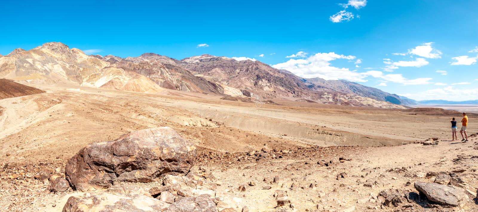 Mountains with Pyramid Peak in Death Valley royalty free stock image