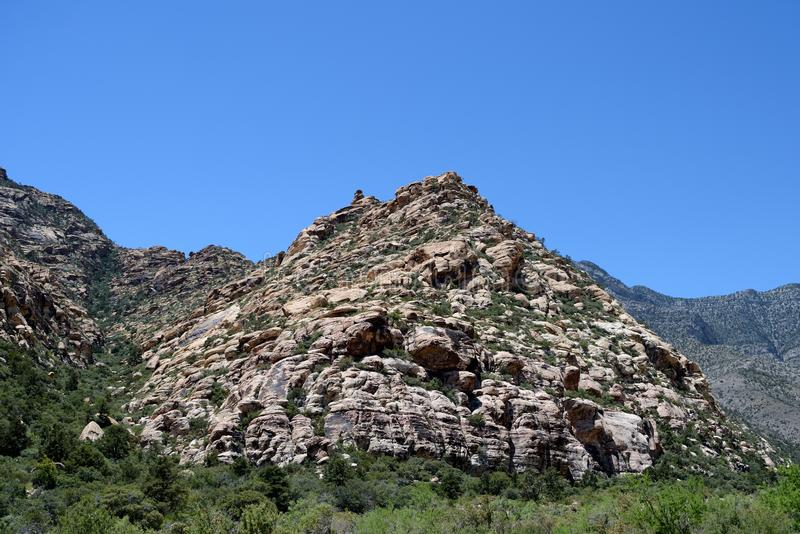 Mountains of Red Rock Canyon, Nevada royalty free stock image