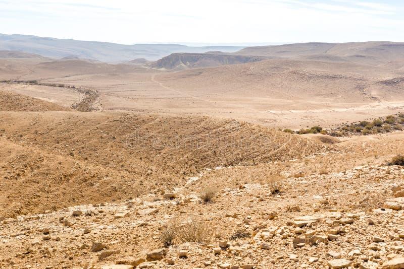 Desert mountains ridge cliffs, south Israel landscape. Mountains ridge hills scenic landscape canyon view, Arif crater Negev desert, travel Israel nature stock images