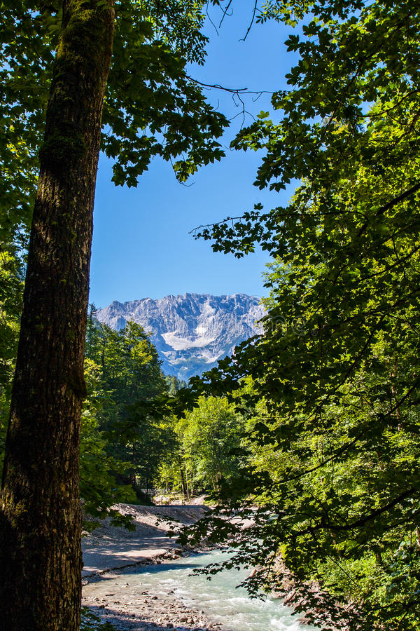 Download Mountains And River In The Alps Stock Image - Image: 33200035