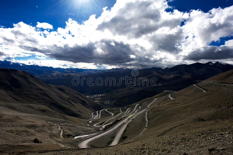 Download Mountains And Road In Qinghai-Tibet Plateau Stock Image - Image: 27452065