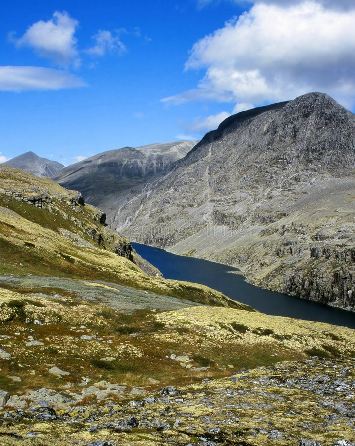 Mountains in Rondane, Norway stock photography