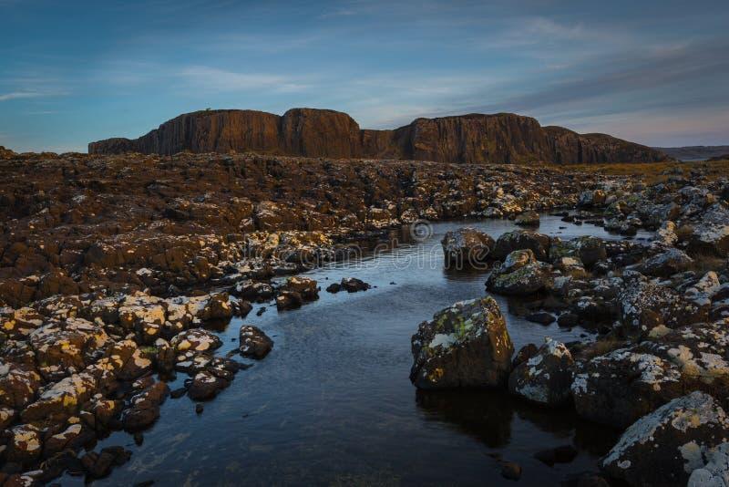 Mountains of Rubha Hunish stock images