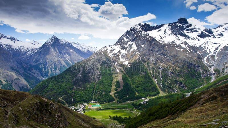 Mountains Saas Fee. The mountains around Saas Fee Switzerland stock photo