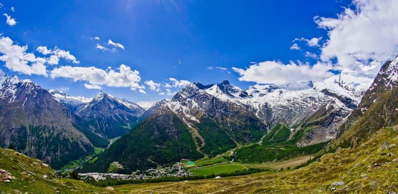Mountains Saas Fee. The mountains around Saas Fee Switzerland royalty free stock photography
