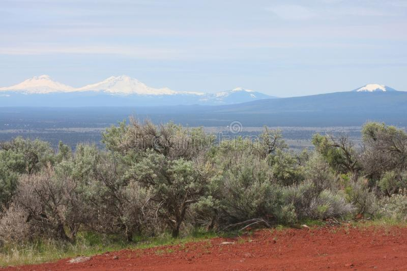 Mountains, Sagebrush and Cinders stock photography