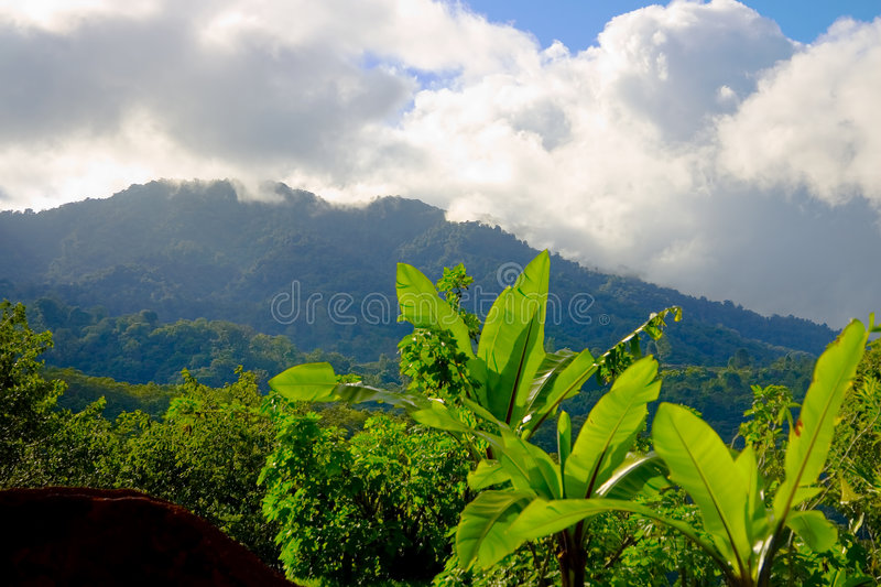Mountains in San Jose, Costa Rica stock photo