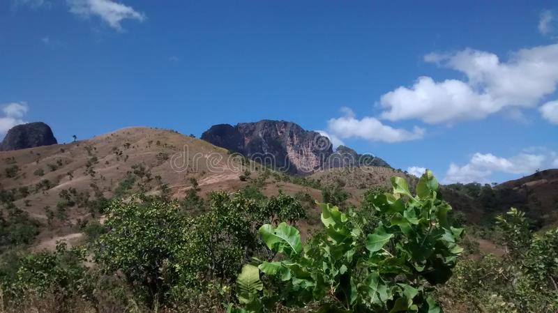 Mountains of San Juan de los Morros, Venezuela. Nature landscape by a national park trail in San Juan, Guarico, Venezuela, South America stock photos