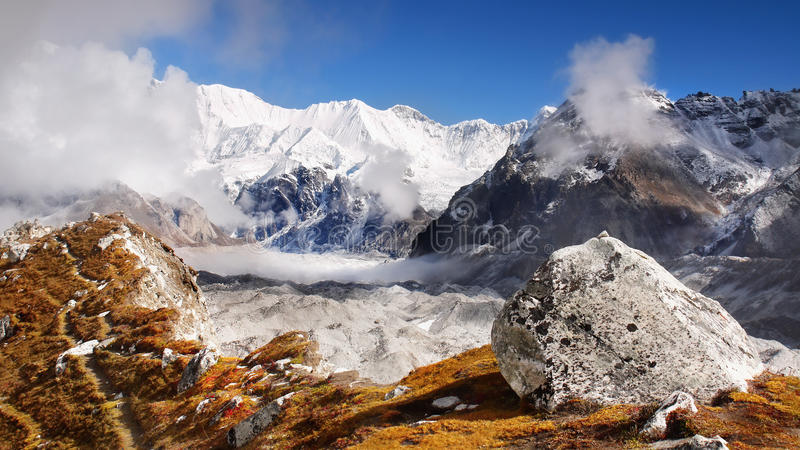 Mountains Scenic Landscape Autumn Himalayas royalty free stock photo