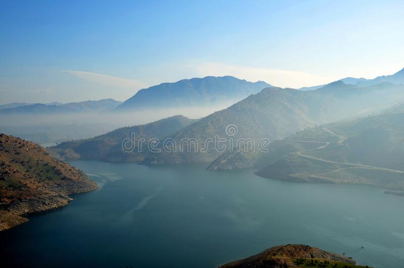 Mountains and sea royalty free stock photography