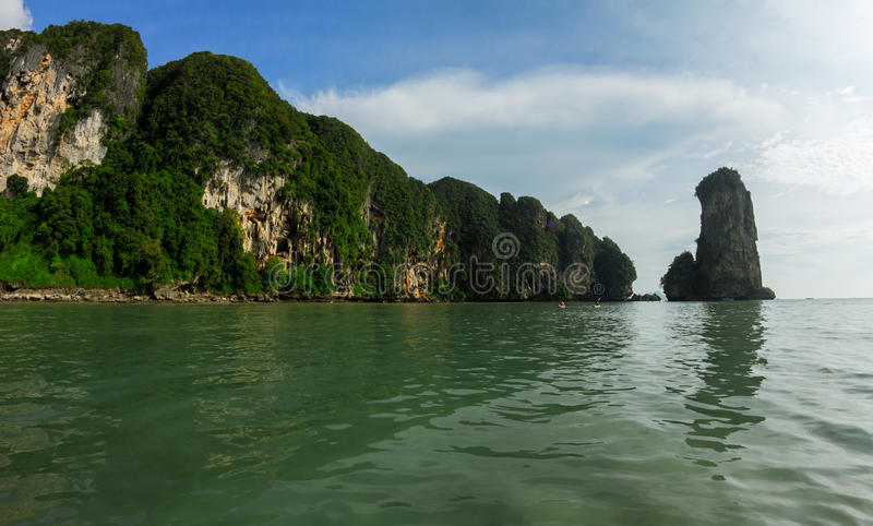 Mountains and sea of Krabi Province, Thailand royalty free stock image